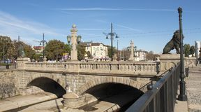 SOFIA, BULGAIRA - 09 OKTOBER, 2017: De leeuwbrug, bouwt 1889 y in Royalty-vrije Stock Fotografie