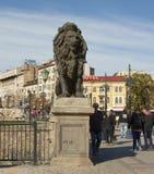 SOFIA, BULGAIRA - 9. OKTOBER 2017: Löwebrücke, errichten im Jahre 1889 Lizenzfreie Stockbilder
