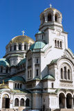 SOFIA, BULGARIA - APRIL 1, 2017: Amazing view of Cathedral Saint Alexander Nevski in Sofia Royalty Free Stock Images