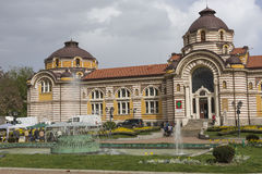 SOFIA, BULGARIA - APRIL 14: Central public mineral bath house in Royalty Free Stock Image