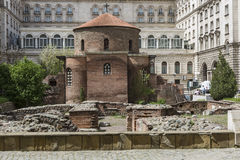 SOFIA, BULGARIA - APRIL 14: The Church of St George is an Early Royalty Free Stock Photos