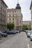 SOFIA, BULGARIA - APRIL 14, 2016: Downtown of Sofia, is the larg Royalty Free Stock Photo