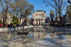 SOFIA, BULGARIA - APRIL 1, 2017: National Theatre Ivan Vazov in Sofia Royalty Free Stock Photos