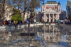 SOFIA, BULGARIA - APRIL 1, 2017: National Theatre Ivan Vazov in Sofia Royalty Free Stock Image