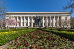 Spring view of National Library St. Cyril and St. Methodius in Sofia, Bulgaria Stock Photography