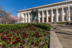 SOFIA, BULGARIA - APRIL 1, 2017: Spring view of National Library St. Cyril and St. Methodius in Sofia Stock Photo