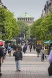 SOFIA BULGARIA APRIL 14 : Street scene of downtown city of Sofia Royalty Free Stock Images