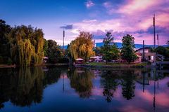 Sofia Bulgaria. Beautiful sunset photo of Sofia Bulgaria in the downtown historical centre of the city royalty free stock images
