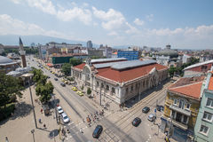 Sofia, Bulgaria capital downtown. Aerial view of Sofia downtown, capital of Bulgaria famous landmarks Stock Photos