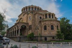 Sofia, Bulgaria - 5 13 2018: Chiesa santa Sveta Nedelya di domenica immagine stock libera da diritti