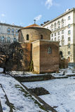 SOFIA, BULGARIA - FEBRUARY 5, 2017:  Winter view of Cathedral Church St. Nedelya in Sofia Royalty Free Stock Image