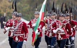 Sofia Bulgaria Guards del honor Imagen de archivo libre de regalías