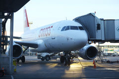 Sofia, BULGARIA -JUNE 13: board the aircraft before take-off on JUNE 13, 2014 Stock Photo