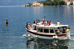 Sofia, BULGARIA - JUNE 15: Tourist excursion boat trip on a yacht jn June 16, 2014 Stock Images