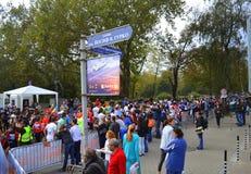 Sofia Bulgaria maraton Arkivfoto