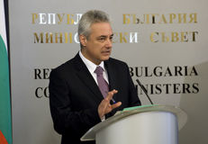 Bulgaria Interim Prime Minister Royalty Free Stock Photos
