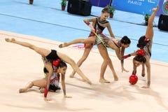 Team Italy Rhythmic Gymnastics Royalty Free Stock Images