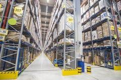 Free SOFIA, BULGARIA - NOVEMBER 21 2019: Interior Of A Large Warehouse With Shelves Royalty Free Stock Photo - 164845695