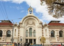 SOFIA, BULGARIA - OCTOBER 09, 2017: Central market, build in 1911 year. Royalty Free Stock Photography