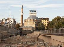 SOFIA, BULGARIA - OCTOBER 08, 2017: Djamilia mosque, builg in 1576 and ancient ruins. Stock Images