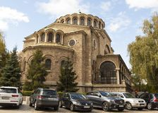 SOFIA, BULGARIA - OCTOBER 09, 2017: Saint Nedelya cathedral, build in 1856-1867 year. Royalty Free Stock Photo