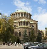 SOFIA, BULGARIA - OCTOBER 09, 2017: Saint Nedelya orthodox cathedral build in 1856 - 1867 year Stock Photography