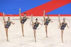 Team Belarus Rhythmic Gymnastics stock images