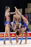Team HungaryRhythmic Gymnastics royalty free stock photo