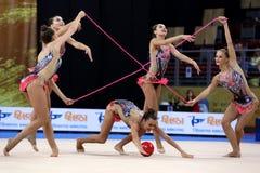 Team SloveniaRhythmic Gymnastics stock images