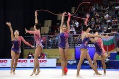 Team Turkey Rhythmic Gymnastics stock photo