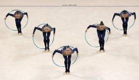 Team Ukraine Rhythmic Gymnastics stock photos