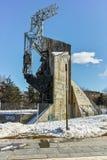 SOFIA, BULGARIE - 5 FÉVRIER 2017 : Vue d'hiver de 1300 ans de monument de la Bulgarie à Sofia Image stock