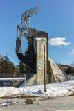 SOFIA, BULGARIE - 5 FÉVRIER 2017 : Vue d'hiver de 1300 ans de monument de la Bulgarie à Sofia Images libres de droits