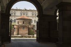 SOFIA BULGARIEN - APRIL 14: Kyrkan av St George är ett tidigt Royaltyfria Bilder