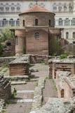 SOFIA BULGARIEN - APRIL 14: Kyrkan av St George är ett tidigt Arkivbilder