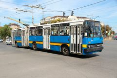 Sofia-Oberleitungsbus Stockbild
