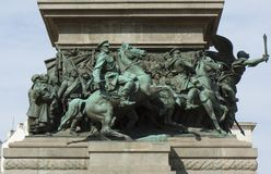 Sofia, Bulgarien, Detail des Monuments zum König-liverator Stockfoto