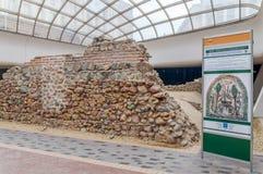 SOFIA BULGARIEN - JANUARI 03: Fördärvar av romersk byggnad Fotografering för Bildbyråer