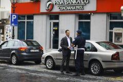 Sofia, BULGARIEN - 14. Juni: Polizei hört auf, am 14. Juni 2014 zu beleidigen Lizenzfreie Stockfotos
