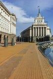 SOFIA, BULGARIEN - 17. MÄRZ 2018: Gebäude des Ministerrats und des ehemaligen kommunistische Partei-Hauses in Sofia Lizenzfreie Stockfotos