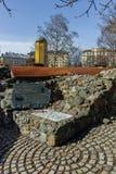 SOFIA, BULGARIEN - 17. MÄRZ 2018: Reste von türkischen Kasernen des 16. Jahrhunderts in Sofia Stockfotos