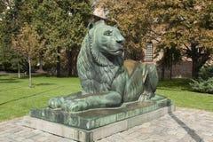 Sofia Bulgarien, monument till lejonet Arkivfoton