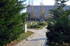 Sofia/Bulgarien - November 2017: Betreten des Museums der sozialistischen Kunst stockbild