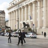 SOFIA, BULGARIEN - 9. OKTOBER 2017: Gebäude von Probekammer, b Lizenzfreie Stockfotos