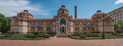 Sofia Bulgarien - 6 13 2018: Regionalt historiemuseum royaltyfri fotografi