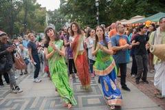 Sofia Bulgarien - September 10 2016: Vagnsfestivalen kallade `-rommar Arkivbilder