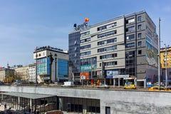 SOFIA, BULGARIJE - APRIL 13, 2018: Het monument van Hagiasophia in stad van Sofia Stock Foto's