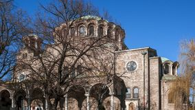 SOFIA, BULGARIJE - DECEMBER 20, 2016: Kathedraalkerk St Nedelya in Sofia Stock Foto