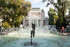 SOFIA, BULGARIJE - OKTOBER 08, 2017: het theater van Ivan Vazov, vond Royalty-vrije Stock Foto's