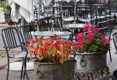Sofia Cafe Tables Street Royalty Free Stock Photos
